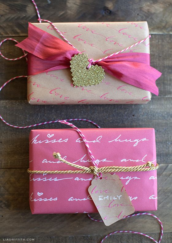 DIY Personalized Love Letter Gift Wrap | Gift wrapping, Creative .