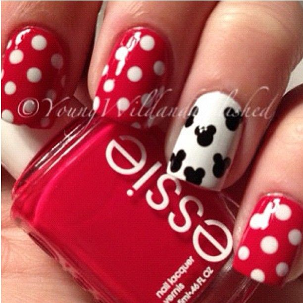 14 Ingenious Mickey Mouse Nail Art Designs | Mickey nails, Mickey .