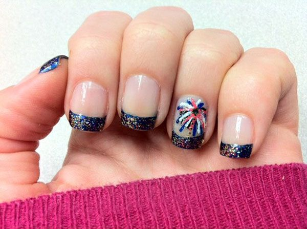 15 Interesting American Flag Inspired Nail Designs | Firework .