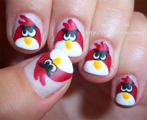 Cute Angry Birds Nail Art Designs & Ideas 2013/ 2014 | Fabulous .