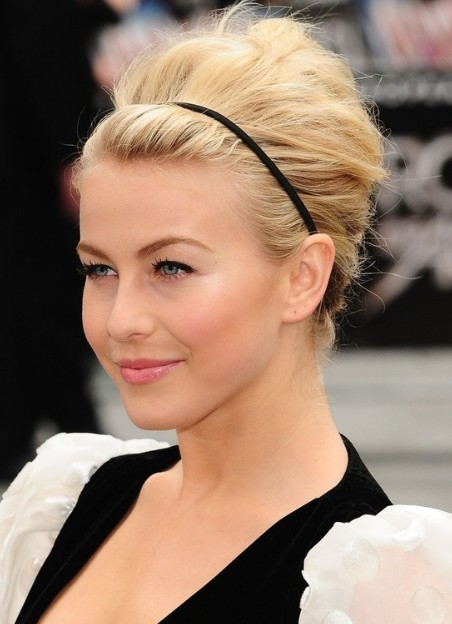 Julianne Hough Formal Updo Hairstyle for Medium Hair - PoPular .