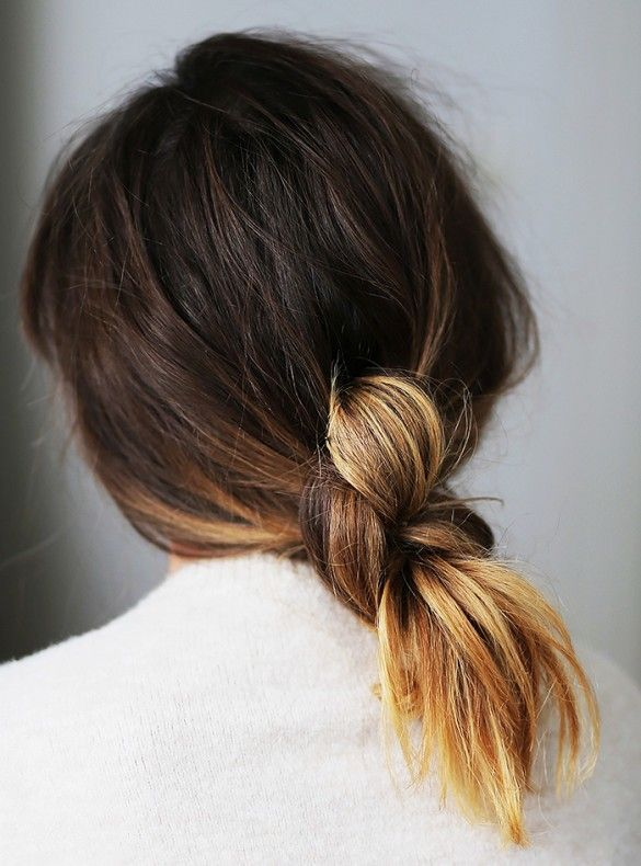 effortless knotted ponytail | Hair knot, Hair styles, Knot ponyta