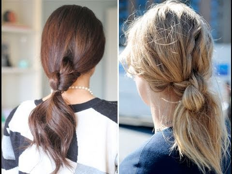 Easy Knotted Ponytail - YouTu
