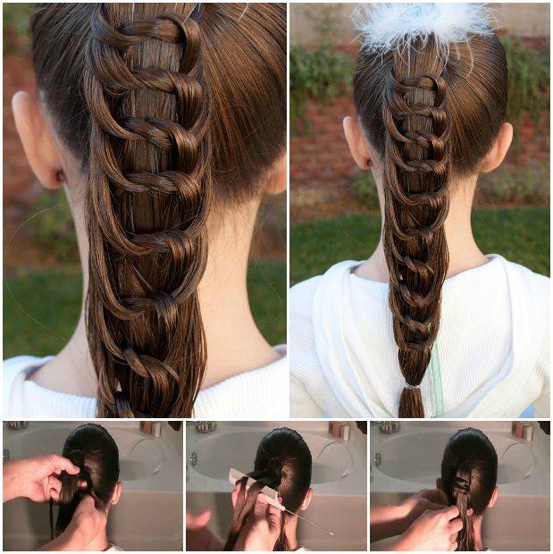 How to DIY Pretty Knotted Ponytail Hairsty