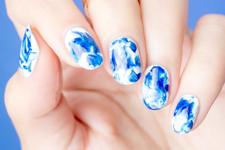 20 Marble Nail Art Ideas With Step By Step Tutorials | Indian .