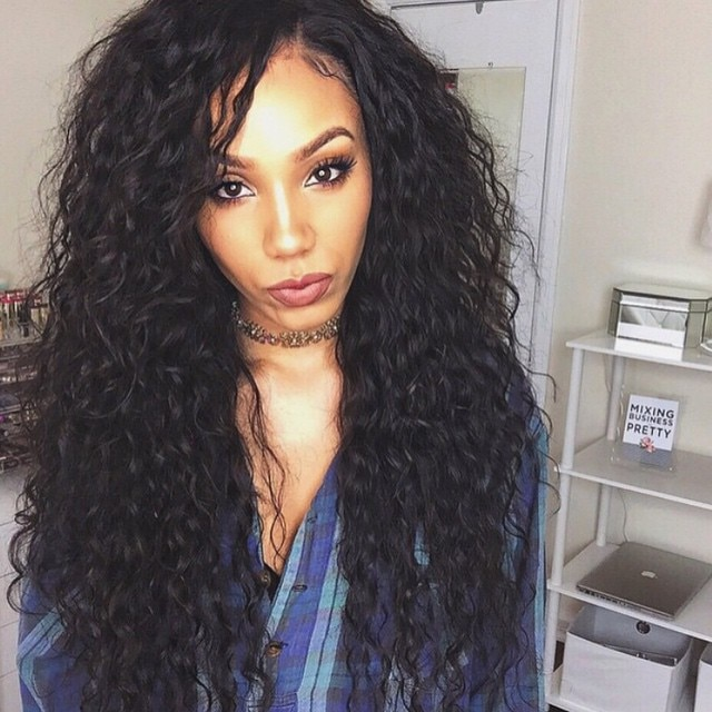 130 Density Brazilian Human Hair Lace Front Wigs Black Women Long .