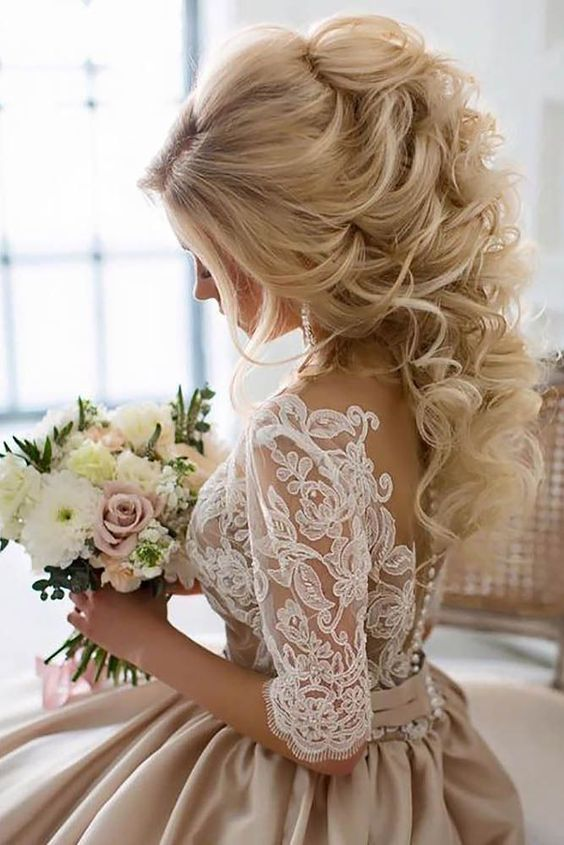 Wedding Prom Hair Updos & Long Hairstyles for Wedding #weddings .