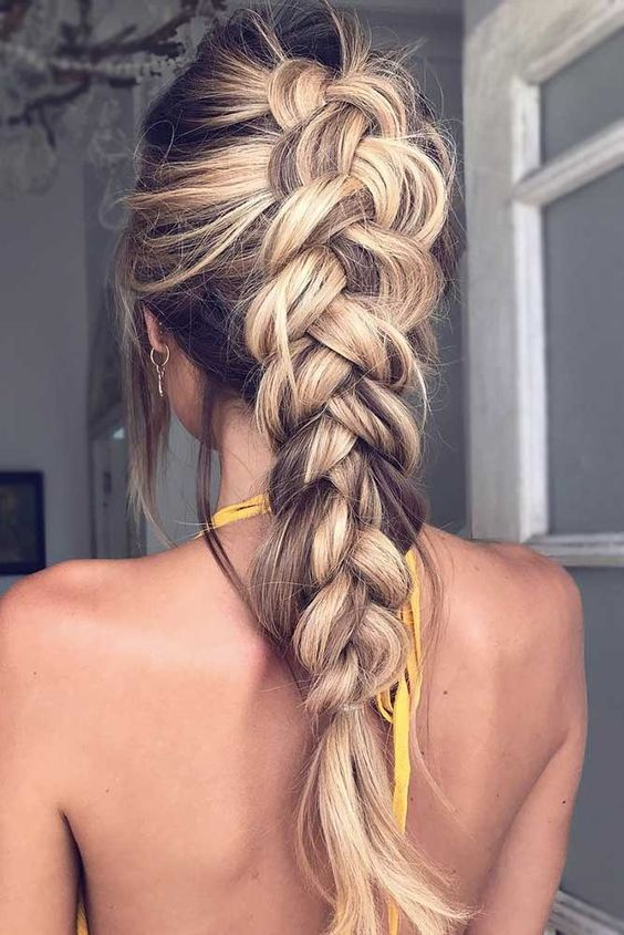 Loose dutch braid. | Braids for long hair, Long hair styles .