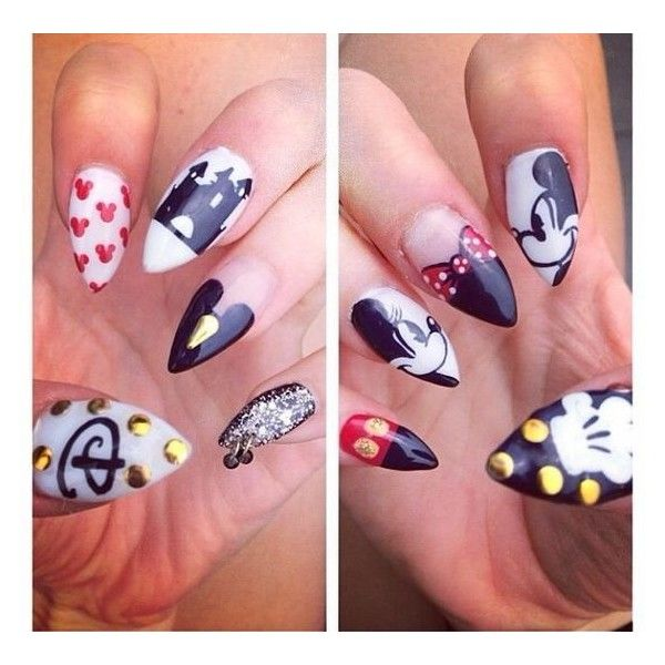 Lovely Cartoon Themed Nails for the Week ❤ liked on Polyvore .