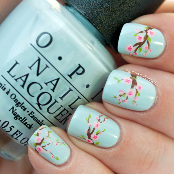 Fabulously Floral Nail Art Designs | Cherry blossom nails, Flower .