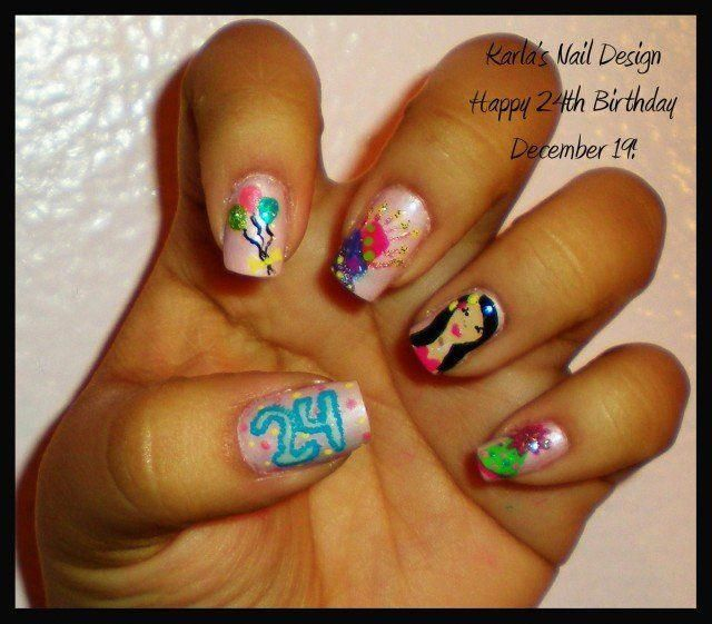 14 Lovely Nail Designs for Your Kids' Birthday Party #birthday .