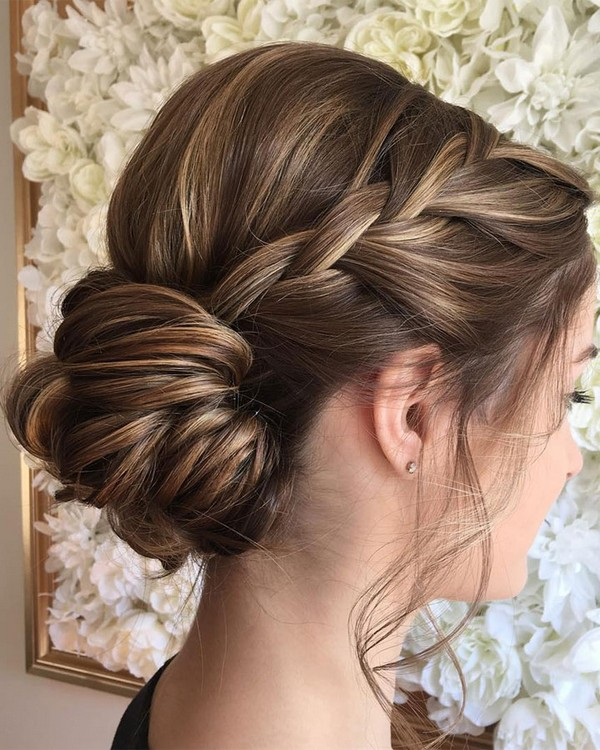 twisted bridal low updo wedding hairstyles - EmmaLovesWeddin