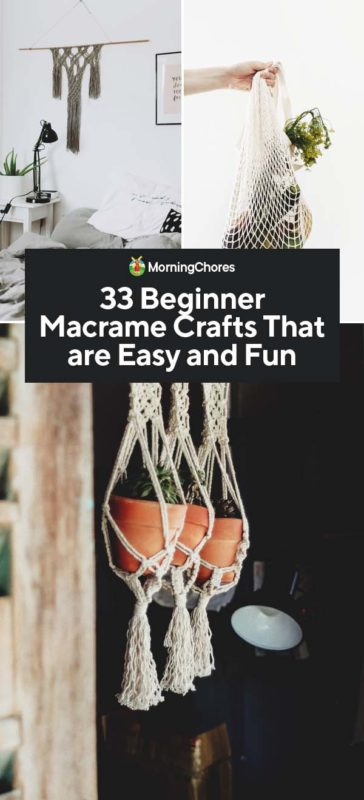 33 Beginner DIY Macrame Craft & Project Ideas That are Easy and F
