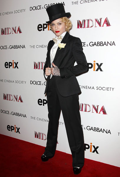 Madonna Nails The Menswear Trend In Tuxedo | FASHI