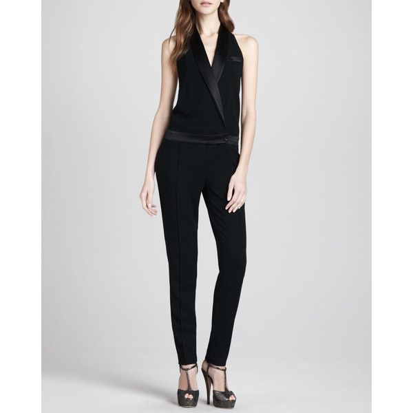 Women's Crepe Tuxedo Halter Jumpsuit - Haute Hippie | Fashion .