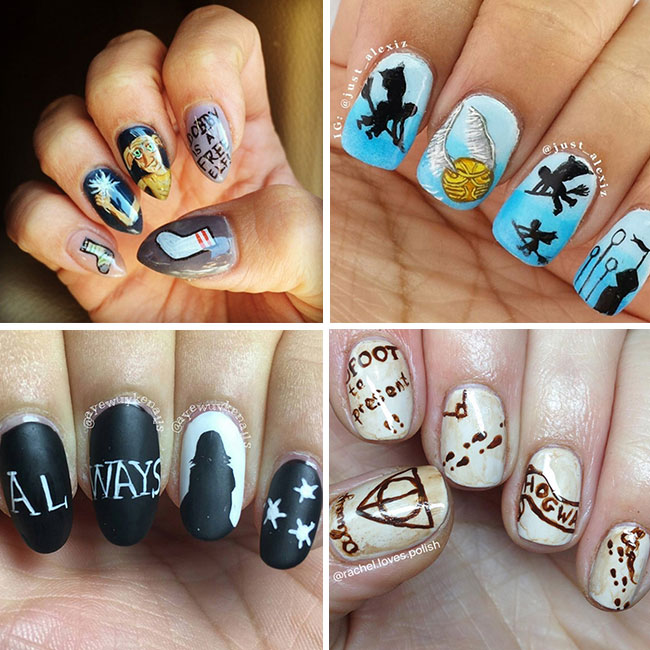 15 Harry Potter nail art designs that are seriously magical | HELL