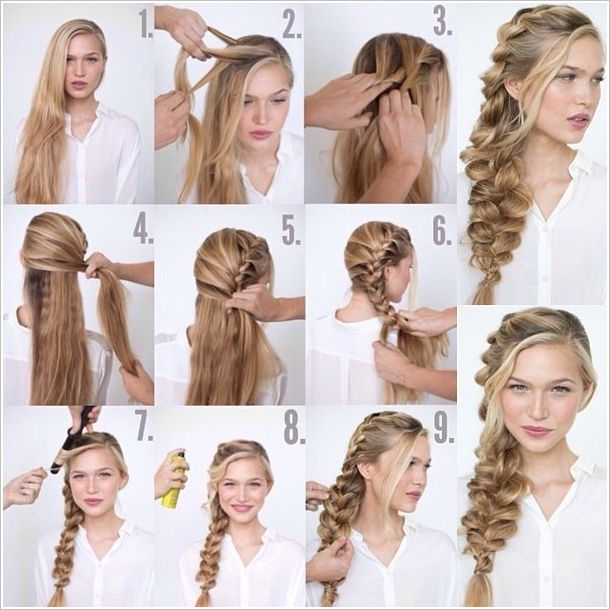 How to Make Romantic Loose Side Braided Hairstyle | Side braid .
