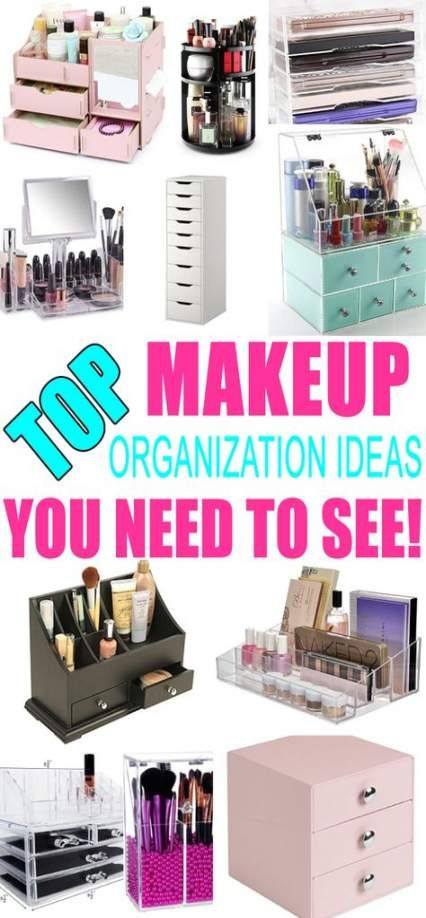 Makeup Storage Ideas Organizing Small Spaces 49 Ideas #makeup .