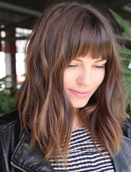 21 Easy Medium Length Hairstyles With Bangs For Women 2019 .
