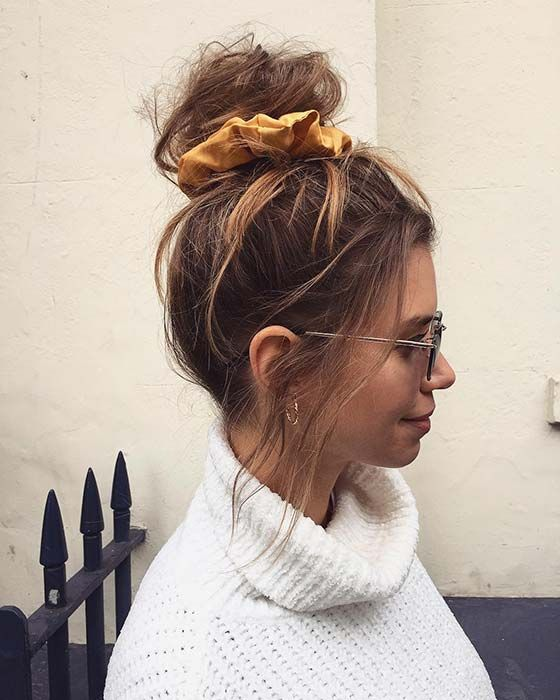 21 Cute and Easy Messy Bun Hairstyles | Cute messy hairstyles .