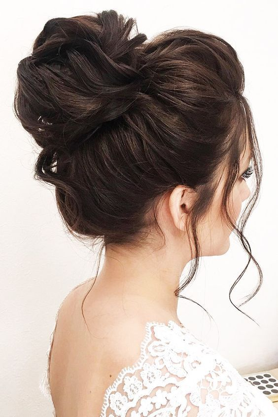 Romantic Messy High Bun Hairstyle 1 - Fashiotop