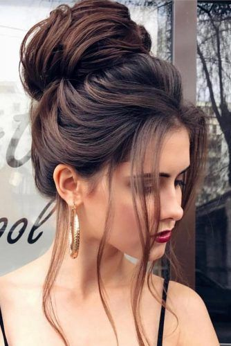15 Pretty Chignon Bun Hairstyles to Try | Bun hairstyles, Formal .