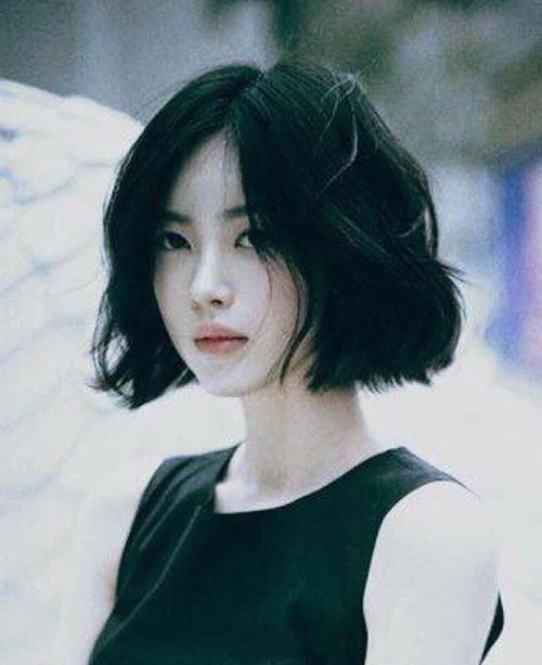 Image result for short dark.messy hair | Asian short hair, Asian .