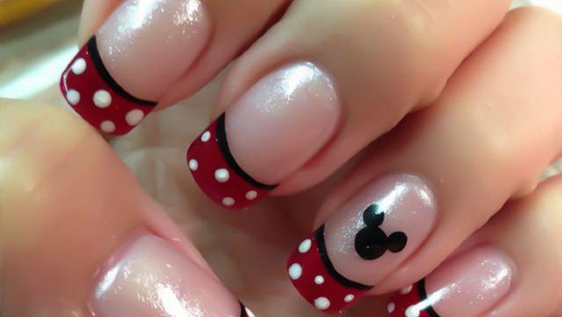 How to Decorate Your Nails with Mickey Mouse Nail A