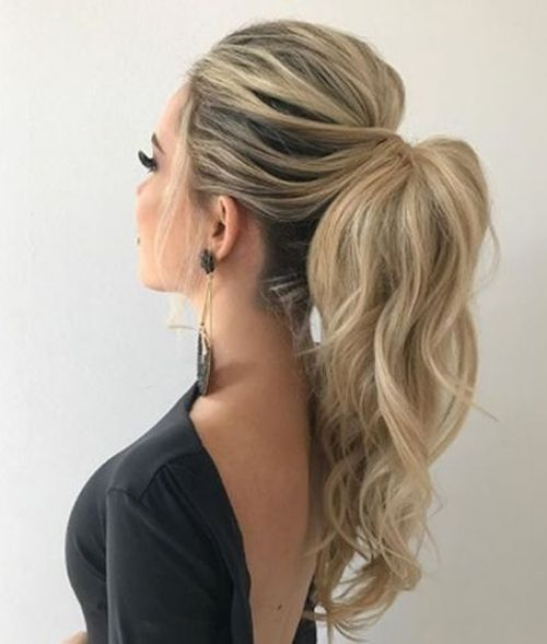 15 Of The Most Preferred Long High Pony Hairstyles 2019 for Prom .