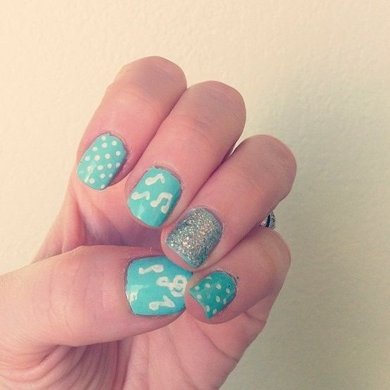 Music Manicure for You to Rock | Music nails, Cute nails, Super .