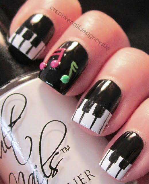 Music Manicure for You to Rock | Music nails, Creative nail .