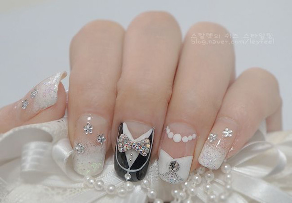 40 Ideas for Wedding Nail Designs | Art and Desi