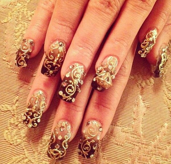 15 Ideal Wedding Nail Designs | Wedding nail art design, Bridal .