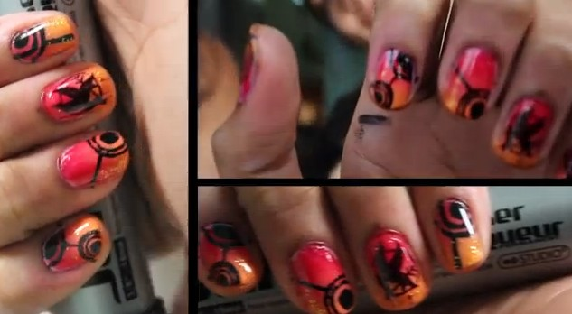 Nail Tutorials for the 'Catching Fire'   Look