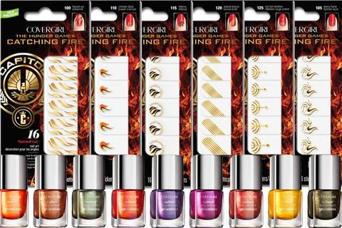CoverGirl Catching Nail Polish and Makeup - Hunger Games Makeup .