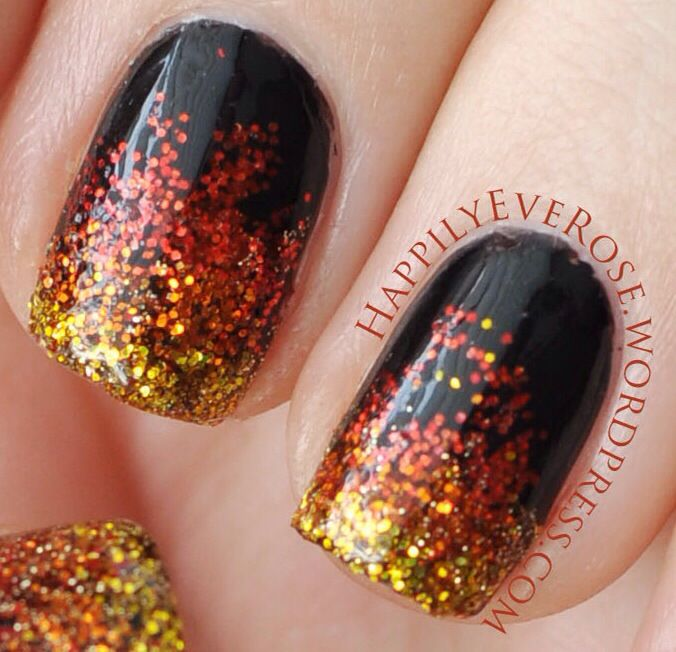 Hunger Games – Catching Fire Nails | Fire nails, Thanksgiving nail .