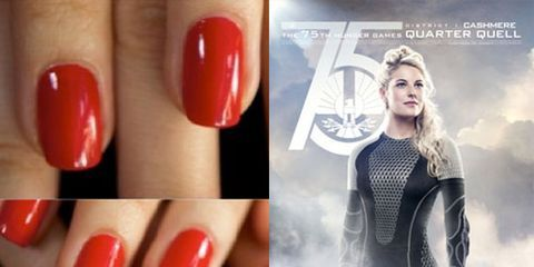Catching Fire Movie Nail Art Tutorials - Catching Fire Nail A