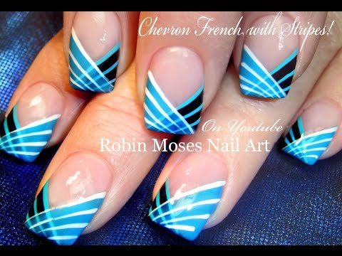 DIY Easy Striped Nails Design | How to Paint with a Striping Brush .