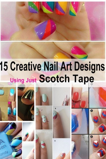 15 Creative Nail Art Designs That Demand Just Scotch Tape – DIY Wort