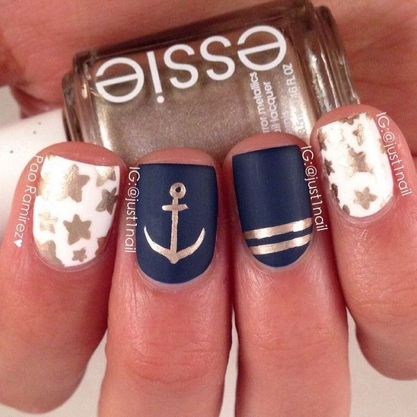 50 Cool Anchor Nail Art Designs - Noted Li