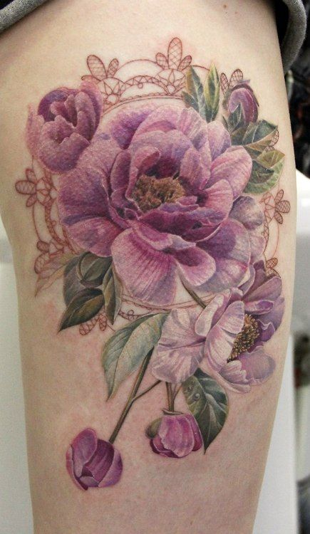 15 No Line Flower Tattoos You Must Love - Pretty Desig