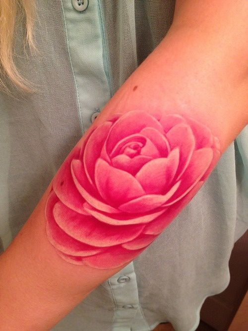 no line tattoo | Pink flower tattoos, Tattoos, Line tatto
