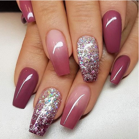 Best Ombre Nails for Fall – 30 Fall Ombre Nails for 2019 | Coffin .