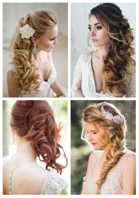 40 Gorgeous Side Swept Wedding Hairstyles | HappyWedd.c