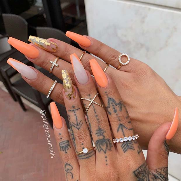 23 of the Best Orange Nail Art Ideas and Designs | Page 2 of 2 .