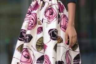 black-top-and-floral-skirt | Fashion classy, Trendy dress outfi