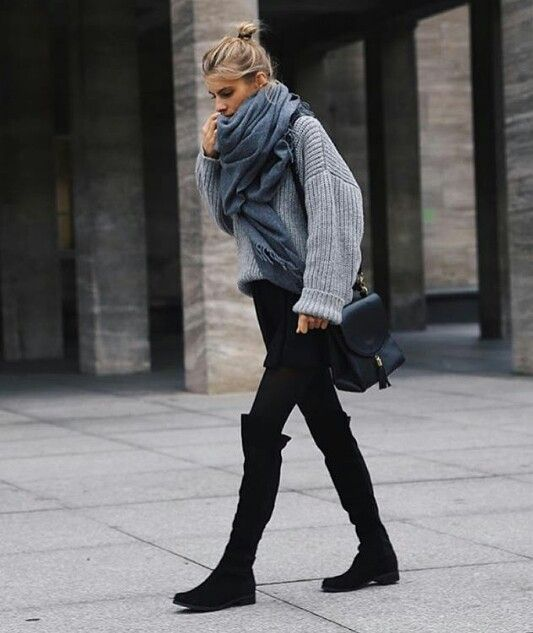 Outfit Looks With Flat Boots for Winter