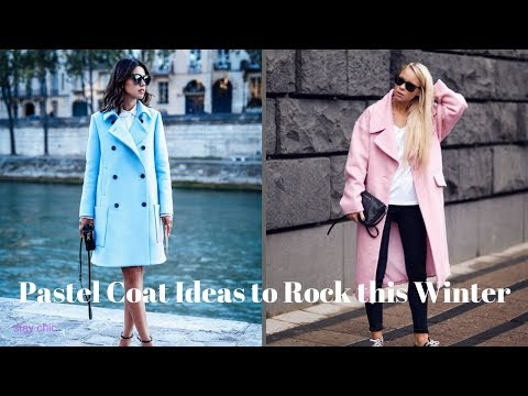 Pastel Coat Ideas to Rock this Winter - YouTu