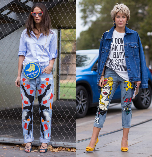 Patchwork Jeans is Becoming a Serious Trend - F