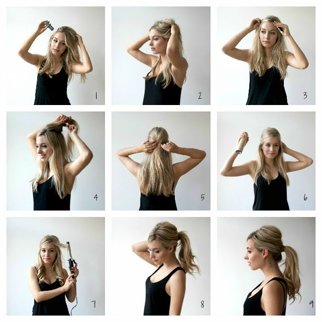 DIY SIXTIES PONYTAIL TUTORIAL ponytail diy diy ideas easy diy diy .